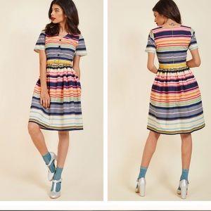 Yumi striped ModCloth Captivate in Color dress